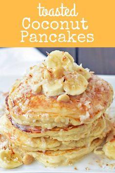 Coconut Macadamia Pancakes with Coconut Syrup Toasted Coconut Pancakes with Homemade Coconut Syrup. How to make fluffy, coconut pancakes. Toasted Coconut Pancakes with Homemade Coconut Syrup. How to make fluffy, coconut pancakes. Coconut Pancakes, Tasty Pancakes, Homemade Pancakes, Pancakes And Waffles, Dinner Pancakes, Carrot Cake Pancakes, Dinner Dessert, Blueberry Pancakes, Fluffy Pancakes