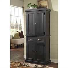 Kitchen Cabinets Ideas | Home Styles 503369 Nantucket Pantry Distressed Black Finish *** Find out more about the great product at the image link. Note:It is Affiliate Link to Amazon.