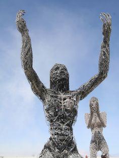 Sculptures in Salvage Steel. Thing 1, Epiphany, Burning Man, Art Forms, Metal Art, Metallica, Galleries, Amazing, Communication