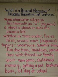 personal narrative by elva