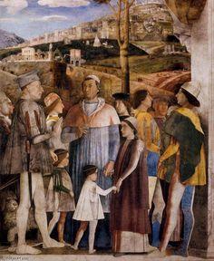A Reunião (detalhe), óleo por Andrea Mantegna (1431-1506, Italy)