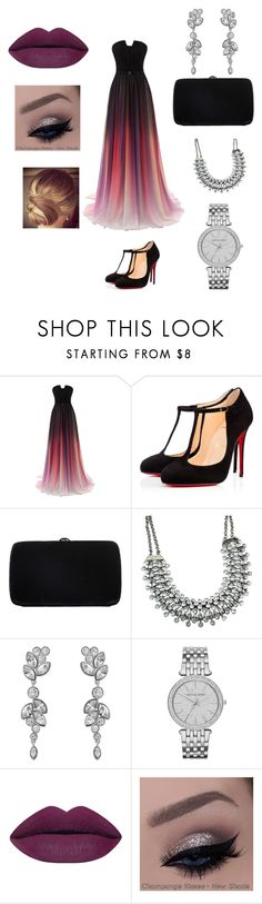 """Evening"" by acyoyo ❤ liked on Polyvore featuring Christian Louboutin, Sergio Rossi, Swarovski, Michael Kors, women's clothing, women, female, woman, misses and juniors"