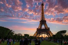 Eiffel Tower in sunset by Francis So on 500px