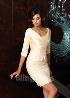Sheath/Column Strapless Short/Mini Lace Taffeta Zipper Up Strapless Sleeveless Yes Other Colors Spring Summer Fall Mother of the Bride Dress Groom Outfit, Groom Dress, Wedding Guest Gowns, Wedding Dresses, Bride Dresses, Mob Dresses, Dresses Online, Robes D'occasion, Mothers Dresses