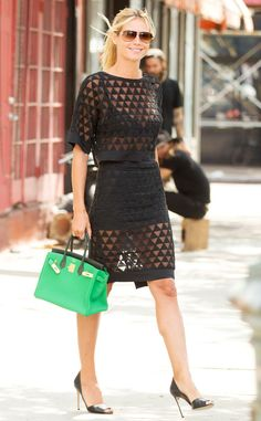 Her Outfit Costs What?! Heidi Klum's $18,910 Sheer Street Style | E! Online Mobile