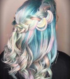 I love bright colorful hair! Dyed Hair Pastel, Pink Hair, White Hair, Pretty Hairstyles, Braided Hairstyles, Blond, Virgin Indian Hair, Princess Hairstyles, Coloured Hair