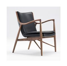 Model-45-Chair-in-Black-and-Walnut-by-Finn-Juhl-DWR-Mid-Century-Modern