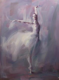 Dance Paintings by Renata Brzozowska - AmO Images - AmO Images Ballerina Painting, Ballerina Art, Ballet Art, Ballet Dancers, Ballerinas, Dance Paintings, Painting Inspiration, Painting & Drawing, Watercolour Painting