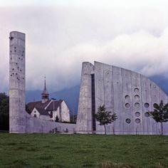 Heilig-Geist-Kirche (1967-69) in Lommiswil, Switzerland, by Roland Hanselmann & Heinz Isler