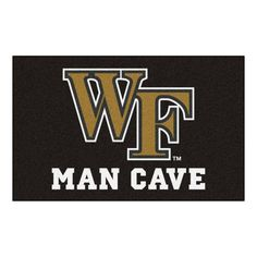 FANMATS Ncaa Wake Forest University Black Man Cave 5 ft. x 8 ft. Area Rug 0b630ab68f523