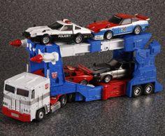 Transformers Masterpiece MP-22 Ultra Magnus (with MP-17 Prowl, MP-19 Smokescreen, MP-12 Lambor and MP-18 Streak)