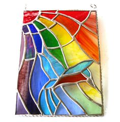 Kingfisher Rainbow Stained Glass Picture Suncatcher Panel - The British Craft House Wedding Anniversary Presents, Craft House, Different Textures, Kingfisher, Suncatchers, Cut Glass, Hummingbird, Rainbow Colors, Home Crafts