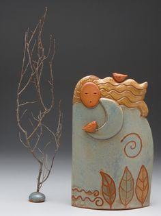 Ceramic sculpture by steve Vachon and Sue Davis.