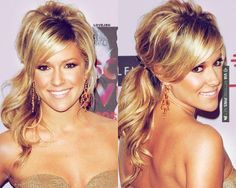 Love this! - teased/curled ponytail!