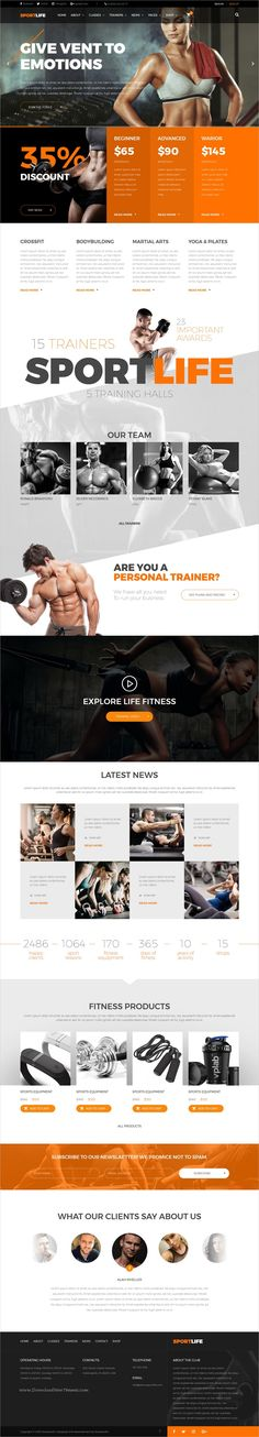SportLife is clean and modern design responsive #bootstrap template for #sports #gym and #fitness centers website download now..