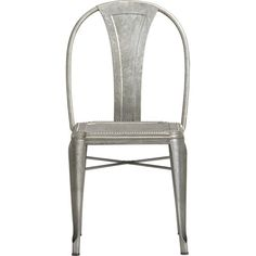 Galvanized steel Lyle Side Chair in Dining Chairs | Crate and Barrel
