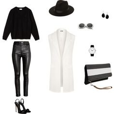 Ахроматы by irmakar on Polyvore featuring Lacoste, WearAll, H&M, Giuseppe Zanotti, Rosendahl and Lack of Color