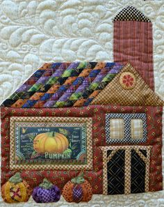 Sew'n Wild Oaks Quilting Blog....What a great way to do the roof! NEVER thought of doing this!