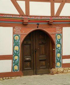 Door in Korbach Germany   Photo by kraai65, via Flickr