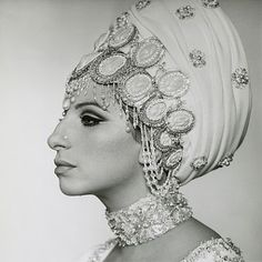 Barbra Streisand in profile