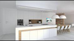 Open Kitchen And Living Room, Kitchen Room Design, New Kitchen, Kitchen Cabinet Storage, Design Studio, Minimalist Kitchen, Sweet Home, Interior Design, Decoration