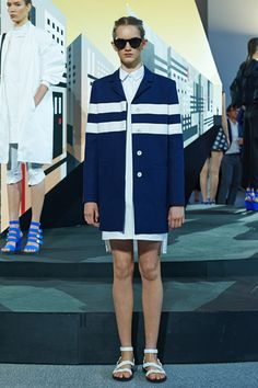 1 Little Stripe, Tons Of Styling Attitude  #refinery29  http://www.refinery29.com/white-stripe-clothing#slide2