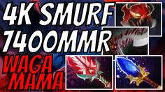 4k SMURF Wagamama 7400 MMR Night Stalker Dota 2 Gameplay