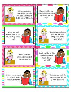 Awesome TpT Freebie! Paired Reading Task Cards that can be used with any story!