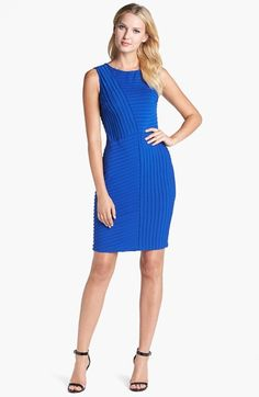 Adrianna Papell Banded Jersey Sheath Dress available at #Nordstrom $138