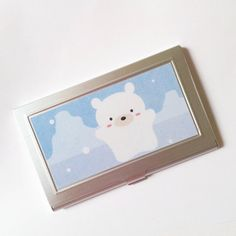 Check out this item in my Etsy shop https://www.etsy.com/listing/231765045/polar-bear-business-card-case-matted