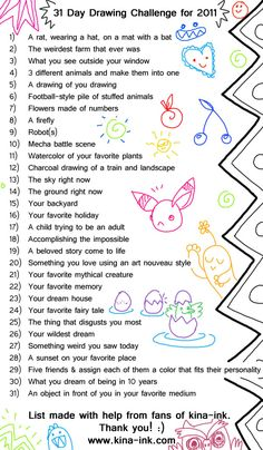 """drawing challenge - might be a fun """"classroom goal"""" (get a art party at the end of the month?) - drawn in doodle books that they only show if they want to"""
