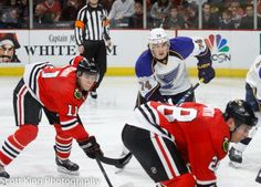 Blackhawks win 3 in a row (credit Scott King Photography) Jeremy Morin (#1 star of the game, 1 G, 1 A) vs. the Douchecanoe Blues,(specifically TJ Oshie) April 6, 2014.