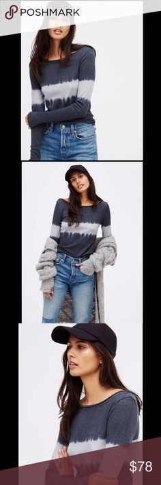 FREE PEOPLE tie dye dip dye thermal American made long sleeve thermal with a cool, relaxed dip dye print. Unfinished edges for a lived-in look. 111192   Size: m  ❤I have over 300 new with tag Free People & More items for sale! I love to offer bundle discounts!  ❤No trades. I no longer discuss pricing in comments. Please use offer button to submit offer!  Free People Tops Tunics