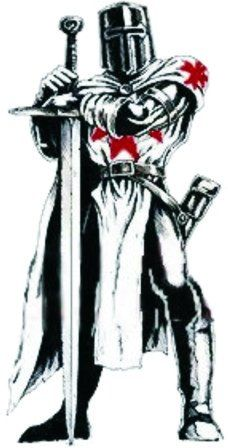There is no known historical evidence to link the medieval Knights Templar and Masonic Templarism, nor do the Masonic Knights Templar organizations claim any such direct link to the original medieval Templar organization Crusader Knight, Knight Armor, Medieval Knight, Medieval Fantasy, Knights Templar Symbols, Tattoo Forum, Medieval Tattoo, Christian Warrior, Unexplained Mysteries