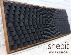 Handcrafted Black Acoustic Panel Sound Diffuser / Large Wood Wall Art with frame This piece is made from pine wood and colored in Black. You can choose a different sizes: Inches x Inches x Inches x Inches x Inches Large Wood Wall Art, 3d Wall Art, Wooden Wall Art, Wooden Walls, Art 3d, Artwork Wall, Art Turquoise, Coastal Wall Art, Acoustic Panels