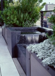 Fountain on roof terrace