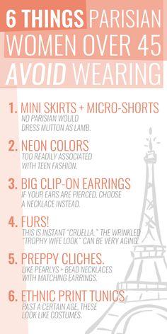 6 fashion mistakes Parisian women won't be making this Fall.