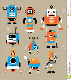 Illustration about Cute cartoon robot,vector illustration. Illustration of moving, happy, buttons - 17261761