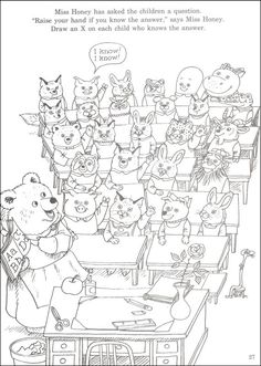richard scarry preschool coloring pages - photo#8