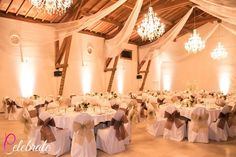 Chair, linen and wedding decoration hire in Rhone Alpes area of France, Celebrate Agency
