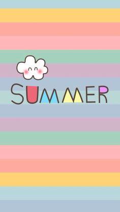 Summer rainbow iphone wallpaper: