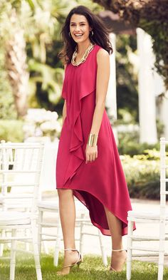 THE HI-LO DRESS | Romantic layers perfect for any wedding locale—backyard or ballroom.