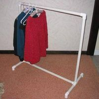 Need more space to hang up freshly washed clothes? An easy way to accomplish this is to make a clothes rack to hang the clothes on as you take them out of the dryer. This simple project can be completed in as little as an hour.