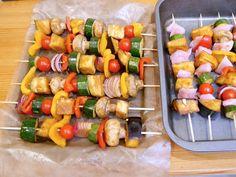 Vegetable skewers by niomismart