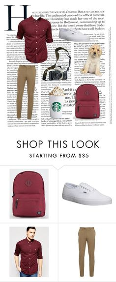 """Brandon"" by claire-kiolbasa ❤ liked on Polyvore featuring Parkland, Eos, Vans, ASOS, Brioni, men's fashion and menswear"