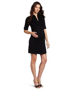 Everly Grey Women's Maternity Mattie Knee Length Dress, Black, X-Large Everly Grey. $69.00