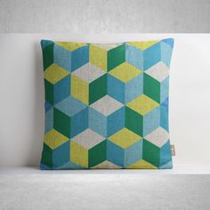 Geometric Pillow Cover, Pillow Cover, Decorative Pillow Cover, Pillow Case, Cushion Cover,Linen Pillow Cover,Throw Pillow,18x18 Pillow Cover door SamanthaEmma op Etsy https://www.etsy.com/nl/listing/201437132/geometric-pillow-cover-pillow-cover
