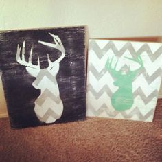 Deer head wood sign, I need to make this pronto!!!