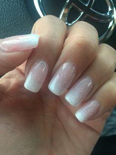 White ombre gel nail polish