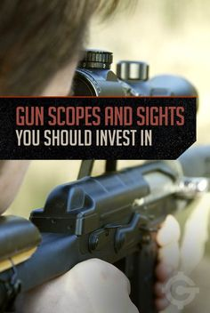 Gun Scopes and Sights You Should Invest In By Gun Carrier. Rifle Accessories, Shooting Guns, Rifle Scope, Self Defense, Personal Defense, Guns And Ammo, Inevitable, Firearms, Hand Guns